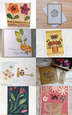 Flower cards by Stuart McWilliam on Etsy--Pinned with TreasuryPin.com