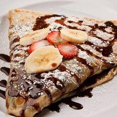 #Nutella #banana #strawberries