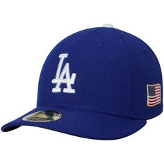 Los Angeles Dodgers New Era Authentic Collection On-Field 59FIFTY Low Profile Fitted Hat with 9/11 Side Patch - Royal