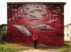 """AP 16.3"" New Street Art Piece By Portuguese Artist Violant In Entroncamento, Portugal. 1"