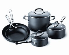 Calphalon Simply Calphalon Hard-Anodized Nonstick 8-Piece Cookware Set -- Details can be found by clicking on the image.