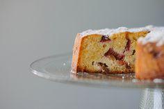 flourless rhubarb + lemon cake recipe - my darling lemon thyme Gluten Free Sweets, Gluten Free Baking, Köstliche Desserts, Delicious Desserts, Cake Recipes, Dessert Recipes, Flourless Cake, Rhubarb Cake, Wheat Free Recipes