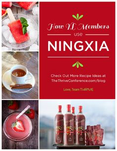 Do you love your Ningxia Red? Haven't tried it yet? This booklet has dozens of yummy recipes using Ningxia Red...delicious!!.