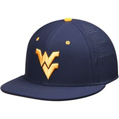 West Virginia Mountaineers Nike True Vapor Performance Fitted Hat - Navy - $36.99