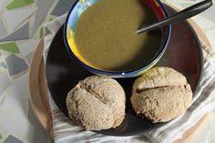Duurzame prei champignon soep