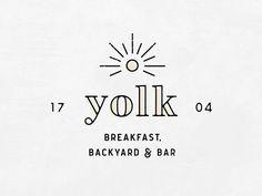 Yolk Logo - Upcoming Restaurant in Oklahoma City by Cara Bell #Design Popular #Dribbble #shots