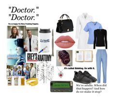 """""""Greys Anatomy."""" by itskempurrr ❤ liked on Polyvore featuring Grey's Anatomy, WonderWink, Julien David, Cast of Vices, Majestic Filatures, NIKE, Bling Jewelry, Lime Crime and Miu Miu"""