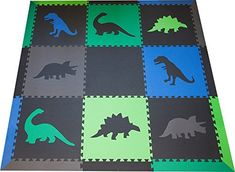 SoftTiles Children's Foam Playmat - Jurassic Dinosaur The...