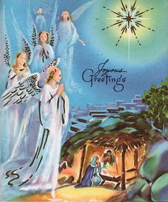 Old Christmas Post Cards — Angels (784x900)