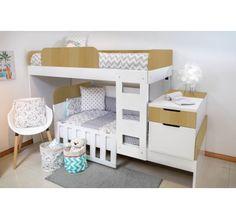 Cama cucheta con cuna Baby Room Decor, Bunk Beds, New Homes, Table, Furniture, Irene, Convertible, House Ideas, Home Decor