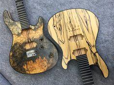 Mayones Guitars Basses Regius 6 Buckeye Burl and Regius 7 Pale Moon Ebony