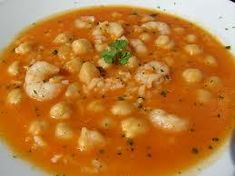 Garbanzos con gambas y arroz Great Recipes, Soup Recipes, Salad Recipes, Cooking Recipes, Spanish Stew, Spanish Dishes, Mexican Food Recipes, Vegetarian Recipes, Healthy Recipes