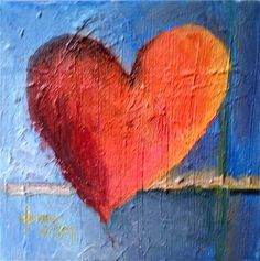 #70 Heart Scape, painting by artist Norma Wilson