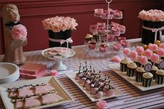 Home-Dzine - Pink and black or chocolate brown baby shower for a baby girl