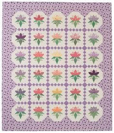 Peony Garden, made by Florida quilter Nancy Mahoney