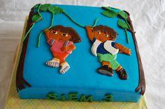Dora en Diego taart