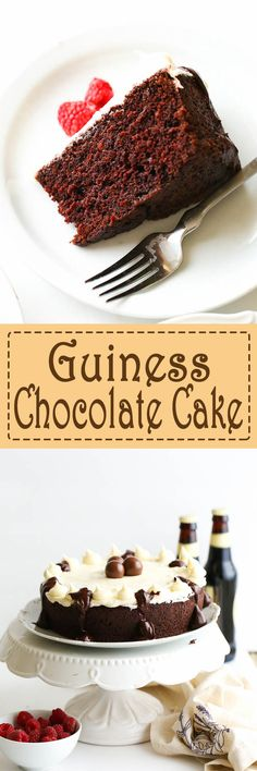 This Guinness Chocolate Cake with Baileys Cream Frosting  is incredibly moist, decadent and melts in your mouth the best cake a Guinness lover could ever wish for, a one bowl chocolate cake with less than a minute of mixing required and 5 minutes prep What's not to love? I had come across a chocolate Guinness …