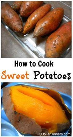 How to Cook Sweet Potatoes - This step-by-step tutorial will help you take advantage of these delicious, affordable, and simple vegetables. Join us as we walk you through how to cook sweet potatoes! Healthy Snacks, Healthy Eating, Healthy Recipes, Sweet Potato Recipes Healthy, Dinner Healthy, Eating Clean, Easy Snacks, Clean Recipes, Cooking Sweet Potatoes