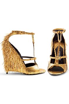 361165ddf4d4ad Tom Ford - Women s Shoes - 2013 Spring-Summer Gold Und Silber