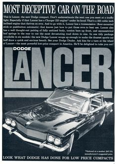 1961 Dodge Lancer Advertisement Car and Driver May 1961