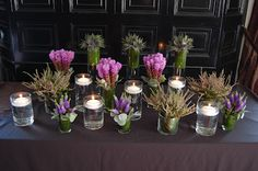 Think we will go with this...veronica, liatris, thistles, baby's breath, heather, and ivy