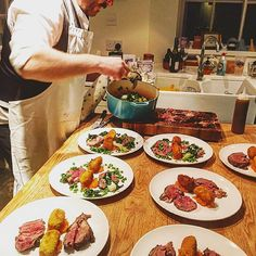 Chef busy plating up the main from last nights Stockbridge Social Club dinner…