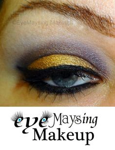Purple and Gold = ♥   Autumn, Love Potion #9, & Linen was used in this look by EyeMaysing Makeup