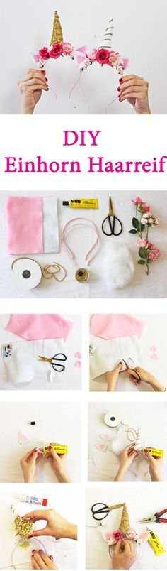 diy-einhorn-haarreif-collag (Diy Beauty)