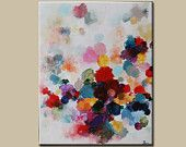Painting Acrylic painting Abstract Painting Colorful Circles Painting   painting on canvas original abstract art ,modern abstract art