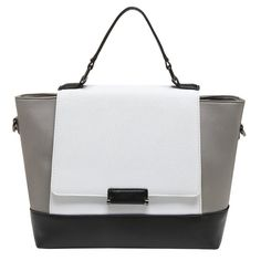 Women's Handbags Top Handle Satchel Tote Black,White,Gray PU Leather Shoulder Bags. Occasions: Not too big nor too small, this tote bag goes well with any outfit in any occasion like work/business/dating, and you will feel comfortable to wear it over your shoulder. Capacity:This size leather tote bag is roomy for storing.Easily carry your A4 file,mobile phone,wallet,cosmetic,IPAD,umbrella and other daily things. Structural Design:Roomy interior boasts fabric lining, 2 slip pockets, 2...