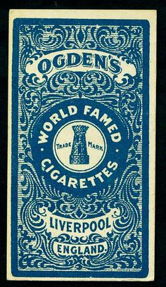 Cigarette Card Back - Ogden's of Liverpool
