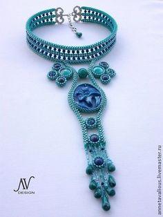 Лилия - Bead Dreams 2010 finalist - колье,цветок,авторский дизайн,авторские украшения