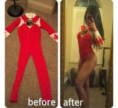 Halloween ideas. power ranger. red ranger. DIY costume! Good idea for next year.