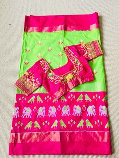 Pochampally Ikkat Silk Saree Indian Ethnic Saree Traditional