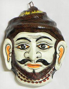 Shiva Mask - Wall Hanging (Papier Mache)
