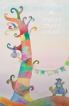 Árbol de huellas para bautizo, personalizado con tortugas y bebé, guirnalda de whasitape. Fingertree