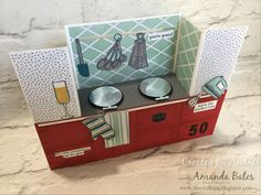 Kitchen Aga Bench Fold card created by Andrea with Amanda Bates at The Craft Spa. Independent Stampin' Up! UK Demonstrator, Blogger & Online Shop