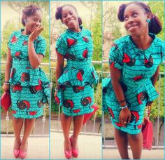 Ankara Short Skirt and Blouse Style African Dresses For Women, African Attire, African Wear, African Women, African Style, African Kids, African Clothes, African Inspired Fashion, Africa Fashion