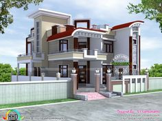 2250 square feet, modern 4 bedroom home in decorative style architecture by S. house designs exterior home modern decorative architecture designs exterior indian House Arch Design, Architect Design House, House Outside Design, Duplex House Design, Kerala House Design, Home Building Design, Small House Design, Modern House Design, Home Design