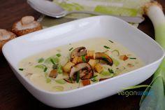 Vegane Käse Lauch Suppe