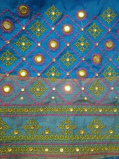 Embroidery Neck Designs, Embroidery Stitches, Machine Embroidery, Kutch Work Designs, Heart Mirror, Beautiful Patterns, Circles, Mirrors, Paisley