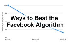 Over the past year, Facebook has been rolling out algorithm updates that have resulted in decreased visibility for business's organic page posts.  Here are 13 ways to beat the Facebook algorithm and help you get your fan engagement back: http://spag.es/1un1bYS  #marketing #facebook #business #smallbiz #socialmedia