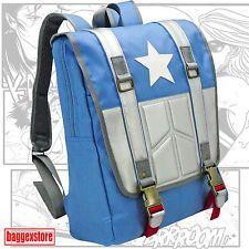 Captain America Backpack Youth School Rucksack Book Bag Casual Teenager Daypack
