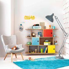 Un coin vintage dans votre pièce à vivre http://www.m-habitat.fr/tendances-et-couleurs/deco-par-style/une-maison-a-la-deco-vintage-2753_A #bleu #rouge #vintage