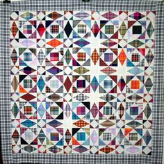 craftiholic: T- Storm of Plaids by Linda Rotz Miller Quilts & Quilt Tops on Flickr.