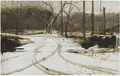 Andrew Wyeth - Race Bridge - 1984