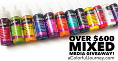 Giveaway Alert! Want to Win $600  in Mixed Media Supplies?