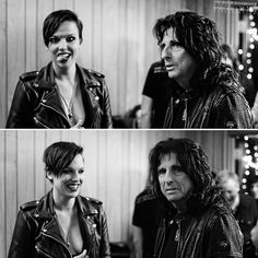 Lzzy Hale and Alice Cooper Lzzy Hale, Noise Pollution, Women Of Rock, Halestorm, Alice Cooper, Night Photos, Hard Rock, Rock N Roll, Heavy Metal