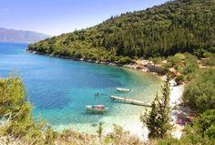 Horgota Beach, Kefalonia, Greece - the jetty scene from Captain Corelli!