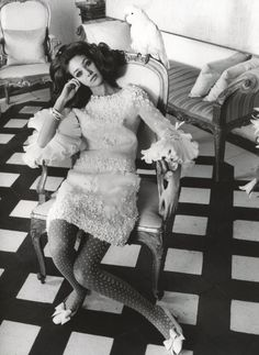 Marisa Berenson - shot by Henry Clarke at Cy Twomblys Rome house